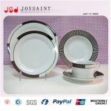 Plaque faite sur commande de vaisselle de porcelaine de logo de modèle simple pour l'usage à la maison