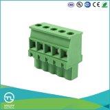 Tipo bloco terminal do parafuso do PWB (de 5.08) conetores de cabo do fio Ma2.5/Vr5.0