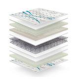 Colchão natural de luxe da mola do bolso do látex com tampa de tela feita malha figurada para a mobília Fb831 do quarto