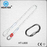 Alta calidad En354 1.5-1.8m cuerda de la correa de seguridad con el mosquetón