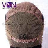 Cheveu normal brésilien de 100% bouclé avec perruques de lacet de prix de gros d'usine de pleines