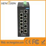 8 Tx e de ponto de entrada de 2 SFP Fx interruptor industrial do Ethernet