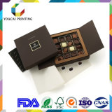 Caixa de empacotamento do chocolate luxuoso com embutimento da grade