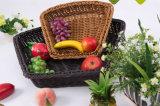 Bunter Plastik-PET Rattan-Nahrungsmittelfrucht-Korb