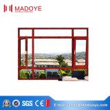 Ventana de ventanilla de aluminio de doble vidrio de estilo europeo de alta calidad hecha en China
