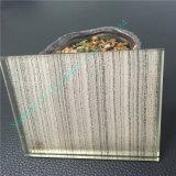 Vidrio laminado azul claro/vidrio decorativo/vidrio Tempered con la ondulación hermosa del agua