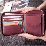 Handmade промелькнутый способом бумажник закрытия (3612)