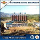 Canal inclinado espiral del equipo mineral de la gravedad del alto rendimiento para la venta