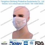 Earloop 1 Falte-Weißbuch-Respirator-Gesichtsmaske-Wegwerfteile Qk-FM011