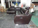 Sofà moderno del salone con il sofà dell'angolo del cuoio del Recliner per mobilia domestica