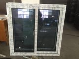 Ventana del PVC de la ventana de desplazamiento de la doble vidriera UPVC