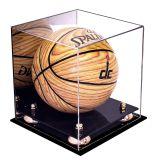 Le noir a basé le cas d'exposition acrylique de basket-ball