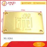 Aleación de zinc placa de identificación con los agujeros de costura