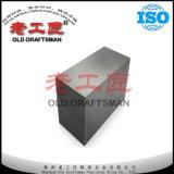 Plaques dures de carbure de tungstène de plaques en métal d'approvisionnement d'OEM pour le caoutchouc de découpage