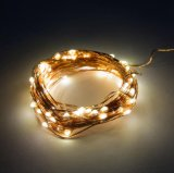 Warmes kupfernes feenhaftes sternenklares Weihnachtslicht des Weiß-LED für Innendekoration