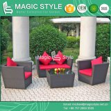 Rattan Sofa Set with Cushion Garden Sofa Set (Magic Style)