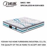 デラックスで自然な乳液は寝室の家具- Fb831のための計算された編まれたファブリックカバーが付いているスプリング入りマットレスを圧縮した