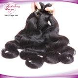 Erschwinglicher Preis-weiche und glatte Jungfrau-peruanisches Karosserien-Wellen-Haar