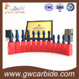 Moinho de extremidade liso HRC45 do carboneto contínuo 50 60
