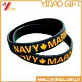 Kundenspezifisches Firmenzeichen-Silikon-Armband für Förderung