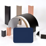 Des Aluis Äußer-6mm Aluminiumhaut-Stärke Feuer-Nennkern-Aluminiumder zusammensetzung-Panel-0.50mm PVDF des grauen Blaus