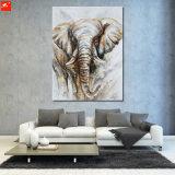 Handmade домашняя картина холстины слона украшения