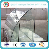 vidrio de flotador de temple plano de 5m m usado para el vector, pasos de progresión, balcón, Windows