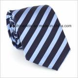 Les relations étroites des hommes en soie de cravate tissés par jacquard rayé