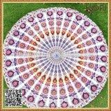 R-001インドの曼荼羅のRoundieの投球のタペストリーの綿のジャカード円形のビーチタオル
