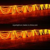 Decoração clara da luz de Natal do motivo da onda do diodo emissor de luz grande para ao ar livre