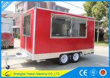Acoplado móvil de los alimentos de preparación rápida del carro del alimento de Ys-Fv390b