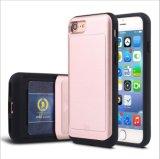 Neuer Ankunfts-Karten-Einlage-Anschlagpuffer TPU + PC Telefon-Zubehör für iPhone 7 Fall (XSEH-039)
