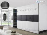 Tipo mecânico mobília de escritório de aço do ficheiro móvel da grande capacidade com punho da roda/gabinete do metal