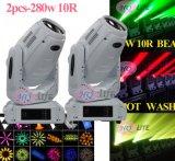 280W 10r LED 반점 광속 이동하는 맨 위 단계 빛