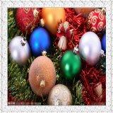 Pintura elevada do chapeamento do vácuo da esfera do Natal do lustro