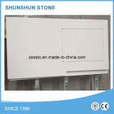 Популярные белые материалы Countertop камня кварца для ванной комнаты