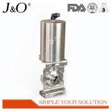 Válvula de borboleta sanitária elevada de Quanlity Pnumatic com o atuador do aço de Stailness