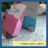 Rectángulo de regalo hecho a mano del chocolate del rectángulo del caramelo de la boda