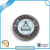 Soem-weiches Decklack-Sicherheits-Abzeichen-kundenspezifischer MetallreversPin