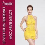 Vêtements de bain de crochet de main de robe de plage de maillot de bain (L38335)