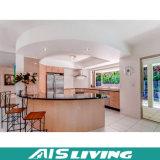 Mobília dobro dos gabinetes de cozinha da cor da U-Forma (AIS-K973)