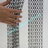 Walk Through Door Colored Aluminium Metal Decorative Hook Chain Link Curtain Insect Screen (P160308G)