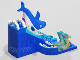 Amusement Parks (CHSL1100)のための鮫Theme Inflatable Slide