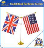 La aduana toda la etiqueta engomada del país señala el indicador de la impresión por medio de una bandera