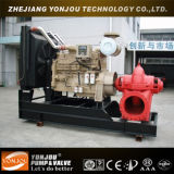 Bomba de água Diesel móvel da água de esgoto para a irrigação