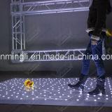 댄스 플로워가 백색 LED에 의하여 점화한다
