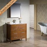 Fed-1210 armário magro do banho da mobília do banheiro do hotel do dissipador cerâmico moderno de 32 polegadas
