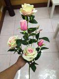 5명의 헤드 로즈 구 Jy915221446의 인공 꽃