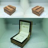 Hoher glatter hölzerner Uhr-Kasten mit PU-oder Samt-Einlage