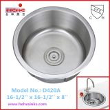 Раковина нержавеющей стали круглой формы, раковина штанги, раковина кухни (D420A)